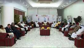 A group of noted scholars and thinkers attending the first session of an annual Ramadan programme ho