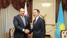 Defence minister meets Kazakh PM