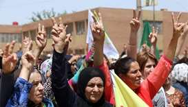 Hundreds of Syria Kurds rally to demand Turkish withdrawal