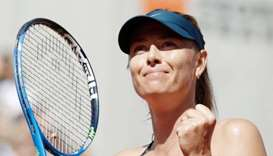 Sharapova wins first French Open match since 2015