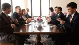 North Korea Vice-Chairman Kim Yong-chol(R) meets with United States Secretary of State Mike Pompeo(L