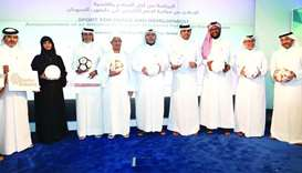 Distinguished guests from Qatar Charity, Qatar Fund for Development, Qatar Football Association, ICS
