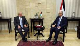 Palestinian PM meets chairman of Gaza Committee in Qatar
