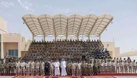 Amir attends graduation of National Service recruits