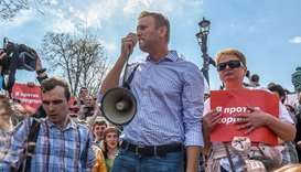 Russian opposition leader and activists held before Putin inauguration