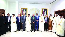 Al-Mahmoud meets Spanish parliament team
