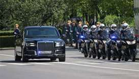 Putin takes inaugural ride in Russian-made limousine
