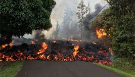 Hawaii volcano destroys over two dozen homes