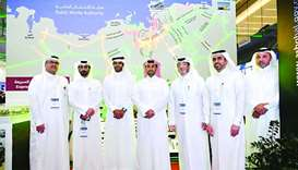 Ashghal officials at the authority's pavilion at the Project Qatar 2018 Exhibition