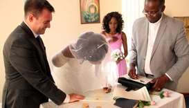 Zanele Ndlovu-Fox exchanged vows with her husband Jamie Fox