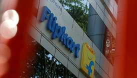 The logo of India's e-commerce firm Flipkart is seen on the company's office in Bengaluru, India