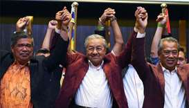 Malaysia's Mahathir wins shock election victory