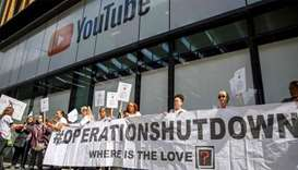 London anti-knife protesters target YouTube