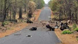 Suspected Maoist bomb kills 16 Indian troops: police