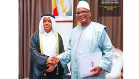 The message was handed over by Qatar's ambassador to Mali Ahmed bin Abdulrahman al-Sunaidi during a
