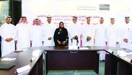 Ashghal president Saad bin Ahmad al-Muhannadi, other officials, CMC members and representatives of c