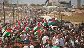 Thousands of Palestinians demonstrate to mark Nakba