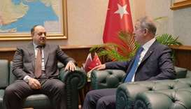 Defence minister meets Turkish counterpart
