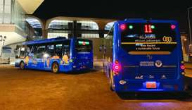 Mowasalat deploys electric buses to transport Amir Cup fans
