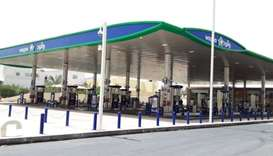 A view of the fixed petrol station in Onaiza area, reopened after renovation and expansion.