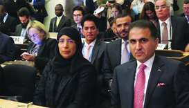 HE the Minister of Public Health Dr Hanan Mohamed al-Kuwari attending the 72nd Session of the World