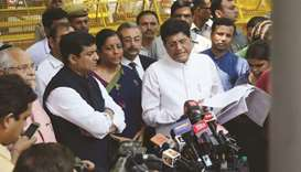 BJP leaders Piyush Goyal and Nirmala Sitharaman