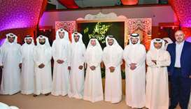 HE Akbar al-Baker with HIA and other QNTC officials at the Sixth Annual Tourism Industry Ghabga.