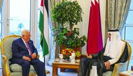 Amir, Abbas review Palestinian situation