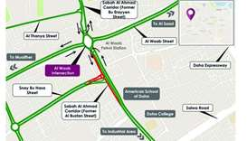 Map of Al Waab Intersection