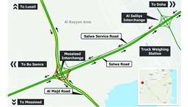 Temporary closure of Mesaieed Interchange Ramp Bridge