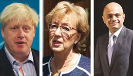 Boris Johnson, Andrea Leadsom, Sajid Javid
