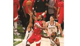 Leonard, Raptors rally, move within one win of Finals