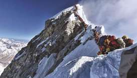 Three Indian climbers die on crowded Mt Everest