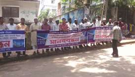 Fishermen stage a protest