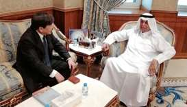 Al-Attiyah meets LNG Japan Corporation executives