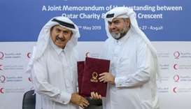 Qatar Charity, Qatar Red Crescent Society join hands