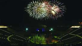 The festivities at Katara will conclude with fireworks