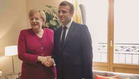 Merkel, Macron meet as Germany takes on high-stakes EU presidency