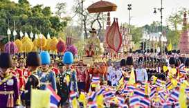 'Long live the King!' Thai monarch carried in grand coronation procession