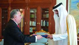 Amir receives credentials of Iraqi ambassador