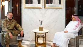 Defence minister meets US commander