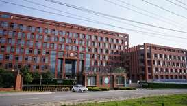 A building with a sign of Wuhan Institute of Virology (WIV) is pictured in Wuhan, the Chinese city h