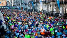 A view of the 2019 Dublin Marathon as it made its way up Fitzwilliam Place.