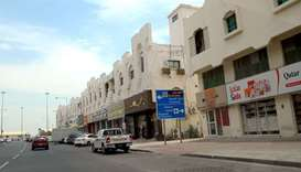 A general view shows closed shops in various parts of Qatar