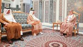 Sultan of Oman meets Qatar's FM