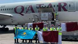 Qatar Fund for Development (QFFD) has sent a shipment of nine tonnes of urgent medical aid to Kazakh