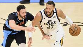 Utah Jazz center Rudy Gobert (right) in action during a regular NBA game. PICTURE: USA TODAY Sports