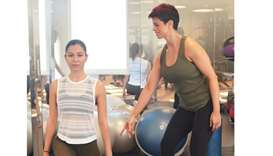 FITNESS: Xiomara believes that for our mental and physical well-being, it is important to stay activ