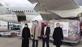 Qatari medical aid arrives in Ukraine