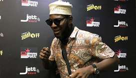 Sensei Uche poses for a picture after anchoring an online virtual party alongside DJ Jimmy Jatt, as